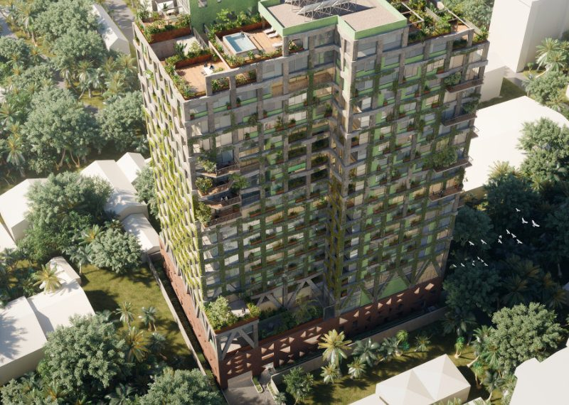 Exterior render of Kefita, Addis Ababa, looking down from above