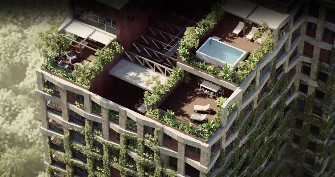 Render of the rooftop penthouses of Kefita, Addis Ababa