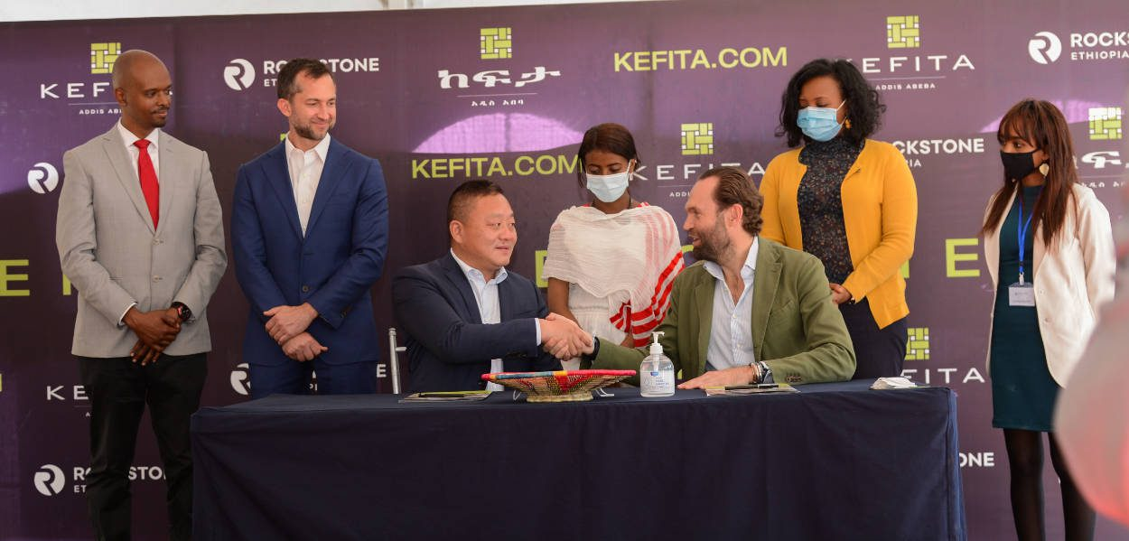 Signing of the Kefita construction contract with HuaHong